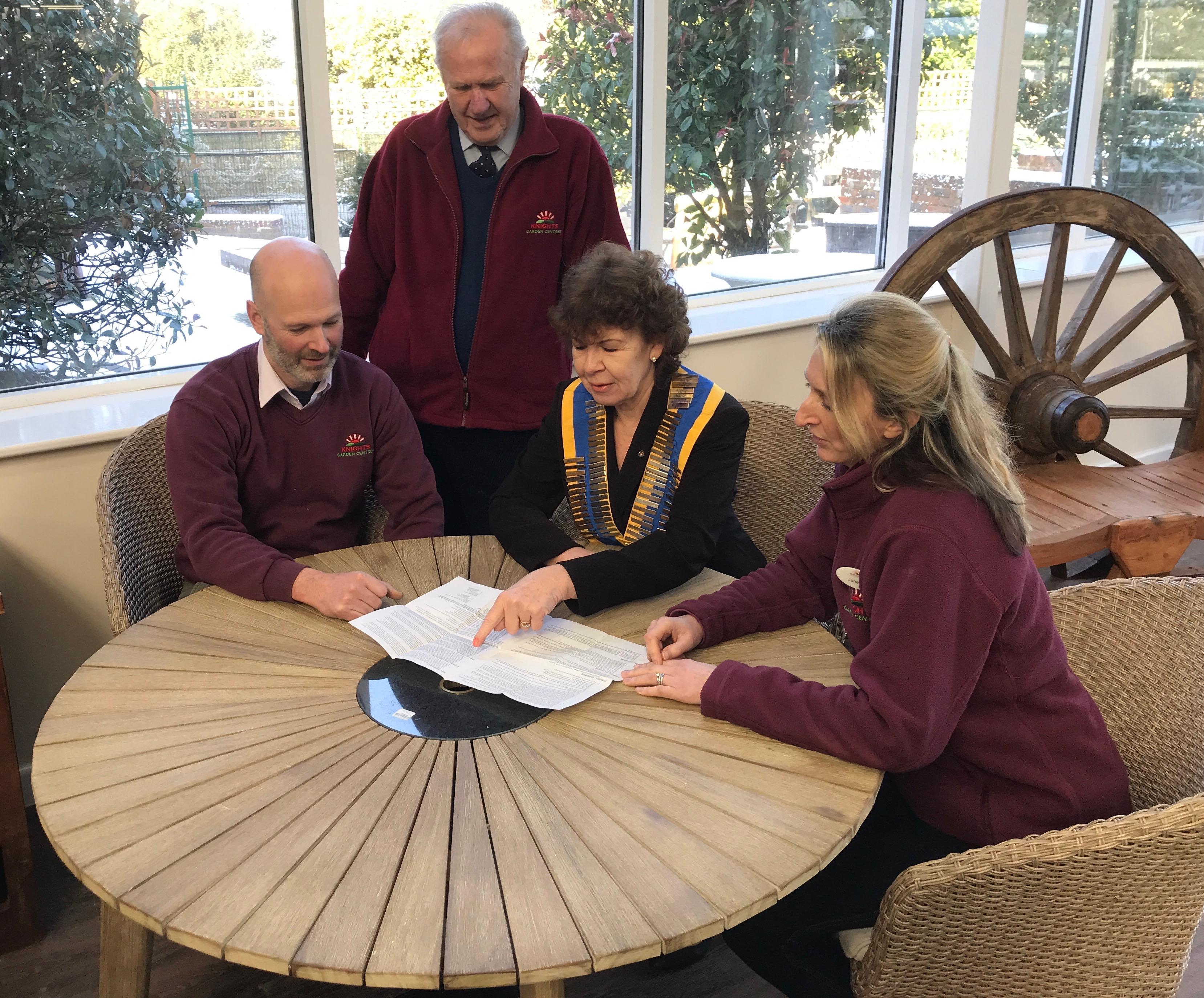 President Stephanie visits  Knights Garden Centre