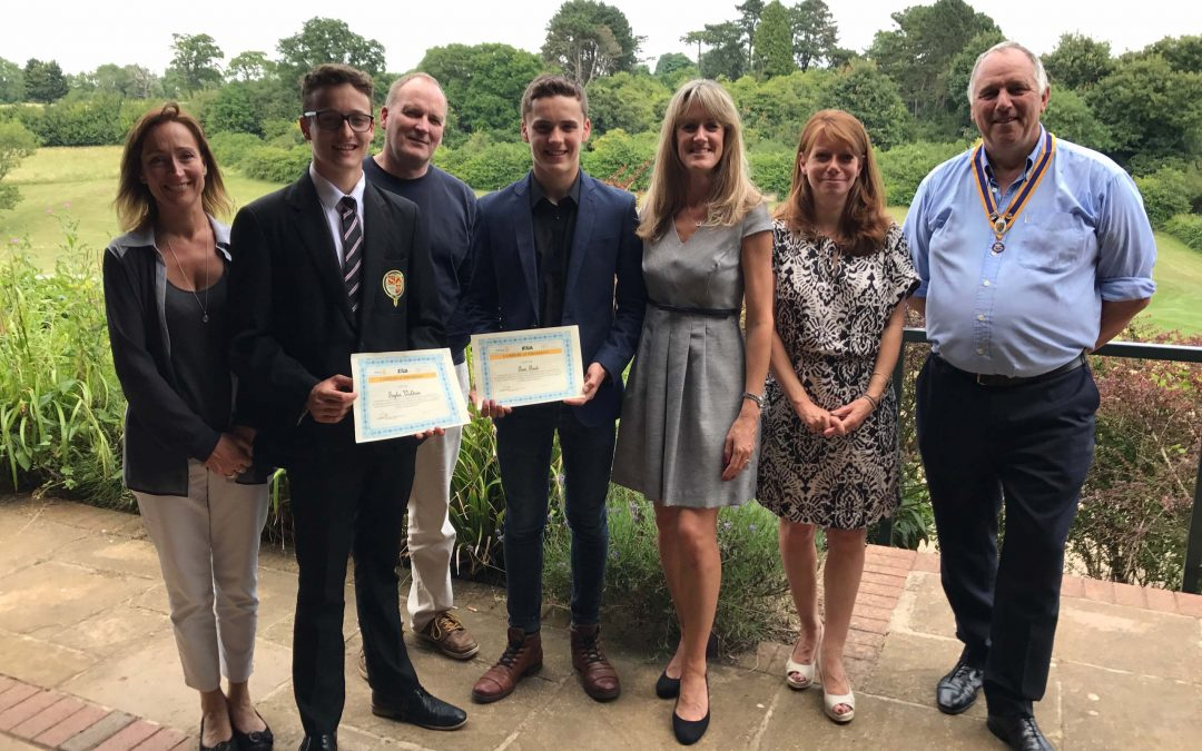 Caterham Rotary Club leadership award for local students.